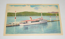 2 Beautiful Lake Coeur D'Alene Western Idaho Linen 1940s Giant Post Card NOS New
