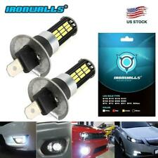 2X H1 200W CREE LED Fog Light Bulbs Headlight Kit Car Driving DRL 6000K White