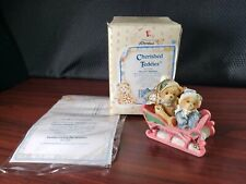 "1994 Enesco Cherished Teddies Our 1st Christmas ""Bundled Up For The"" 617229"