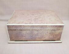 LARGE ART DECO ANTIQUE SHAGREEN CIGARETTE CIGAR / PLAYING CARDS GAMES BOX