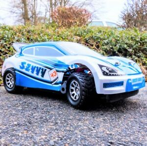 Ferngesteuertes RC Rally Auto 4WD Wagen bis 50 km/h Hobby Spielzeug FUNRACE blau