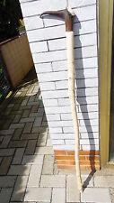 Wanderstock Gehstock Griff Hirschhorn Rose geschnitzt Rehbock gedrehter Schuß