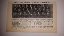 Mount Assumption Institute Plattsburgh Irving School 1927 Football Team Picture