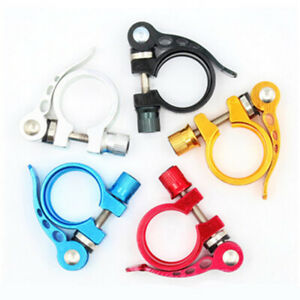 28.6/31.8/34.9MM MTB Bicycle Clamp Bike Seat Clip Post Seatpost Lock Easy to Use