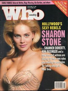 Who Weekly, April 12, 1993 - Rare Celebrity Magazine - Sharon Stone cover