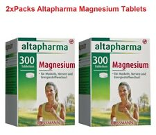 2x Packs Altapharma 600 Magnesium Tablets Dietary Supplement *GERMANY*