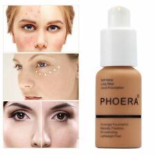 PHOERA Matte Full Coverage Liquid Foundation Conceale Powder Face Cream *