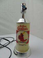 "Vintage St Louis Cardinals Baseball Desk 24"" Lamp 1988"