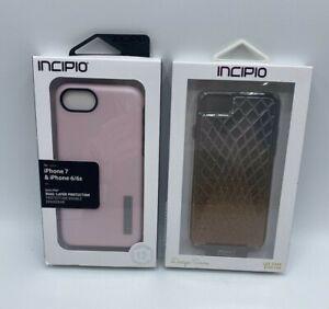 iPhone 7 Plus 6/6s Lux Case & Dual Pro Pink Case Lot of 2 INCIPIO Design Series