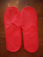 Ladies Hotel Slip On Red Slippers BRAND NEW Size 4-5 37-38