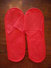 Onorevoli Hotel Mocassini Pantofole Rosso Nuovissimo Taglia 4-5 37-38