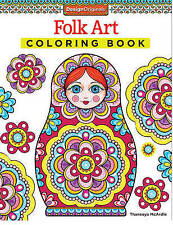 Folk Art Coloring Book By McArdle Thaneeya Paperback