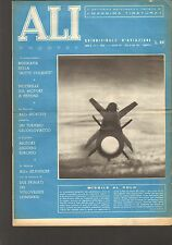 """ALI NUOVE 1957 N.9 AVIAZIONE AERONAUTICA AEREi """"BOTTE VOLANTE"""" SAABJ-29 AVIA L.D"""
