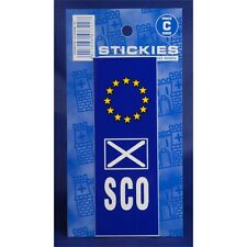 St Andrews & Sco Europlate Sticker - Plate Euro Vinyl Castle Promotions Car
