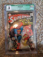 SUPERMAN #199 (1967) CGC .5 - Qualified - 1st Superman v.s Flash race