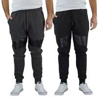 Brave Soul Sean Mens Joggers Slim Biker Panel Detail Casual Trouser Pants