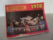 Matchbox lesney series international poche catalogue édition 1978 diecast model