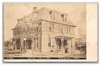 Danbury, IA Iowa Hotel Collins RPPC Real Photo Postcard Posted 1911