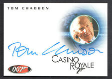 JAMES BOND 007 ARCHIVES (Rittenhouse) AUTOGRAPH CARD #A109 TOM CHADBON