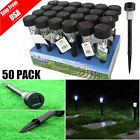 LOT 50 Black LED Solar Powered Outdoor Lawn Lights for Garden Path Landscape TO