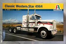ITALERI 1/24 CLASSIC WESTERN STAR 4964 PLASTIC TRUCK MODEL KIT ITEM # 3915 F/S