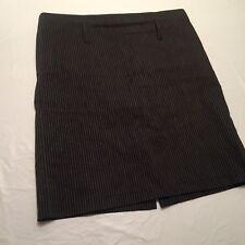 """RALPH LAUREN Size 8 Skirt Black w Pinstripes Pencil Zipper 30"""" waist 20"""" Length"""