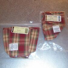 Longaberger Orchard Park Plaid NOTE PAL & PEN PAL SET 2-Basket Liners ~ New!