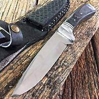 """9"""" FULL TANG WOOD SKINNER HUNTING KNIFE fishing survival skinning FIXED BLADE"""