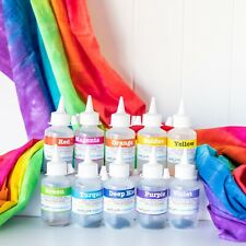 Tie Dye 10 t-shirts Kit 10 rainbow colours real fabric dyes bright colours