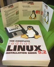 "****WOW!!  The Complete Redhat Linux 5.2 OS Deluxe - CD & 3.5"" Disk -New, No Box"