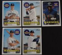 2018 Topps Heritage High Number Seattle Mariners Base Team Set of 5 Cards