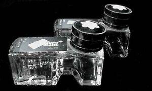 "Pair of Empty ""Mont Blanc"" Ink Bottles"