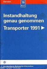 VW Bus T4 - Reparaturleitfaden - Wartung / Instandhaltung - 10/98