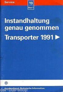 VW Bus T4 - Reparaturleitfaden - Wartung / Instandhaltung - 04/97