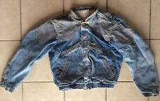 GUESS Georges Marciano VTG 80s Denim Jean Jacket Marty McFly USA Small Two Tone