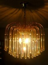 MINT! Vintage Murano Italy Tier Chandelier 31 Crystal Glass Angle