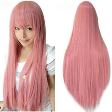 80CM Vocaloid Luka Wig Ruka Cosplay Wigs Smoke Pink Cosplay Wig + Wig Cap