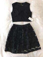 Gilt Ali & Jay Women's Black Floral 2 Piece Set Crop Top And Skirt Size XS