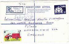 GAMBIA 1969 REGISTERED  ENVELOPE USED