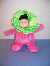 "MUD PIE BABY DOLL - 7"" / POUCH FOR PACIFIER OR ICE - PLUSH PINK/GREEN - VGC"