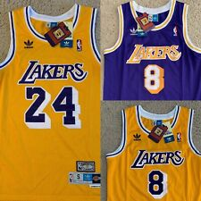 Kobe Bryant Lakers Jersey Yellow Purple Swingman Throwback Retro 24 8 - NWT New