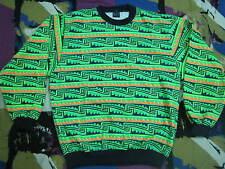 VINTAGE AZTEC SWEATSHIRT USA POP-ART NEON PUNK NEW WAVE SKATE MAMBO BRONZE AGE