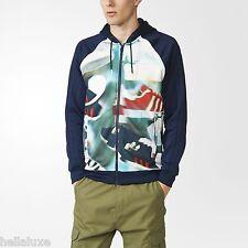 Adidas SHOE CHAOS HOODIE sweat shirt AOP Hooded Track Jacket superstar~Mens sz S
