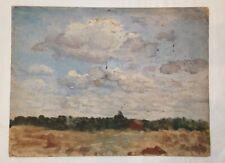 Antique Oil On Board Landscape Unsigned