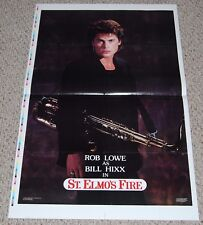 ROB LOWE Billy Hixx St. Elmo's Fire Movie PROOF Poster 1985 OSP Columbia Hot Guy
