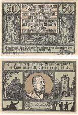 Germany 50 Pfennig 192 Eisenach Notgeld UNC RARE SERIES Banknote - Grey
