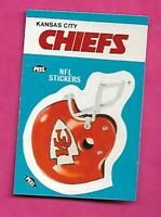 1987 FLEER KANSAS CITY CHIEFS   NFL FOOTBALL STICKERS  NRMT-MT CARD (INV# C3882)