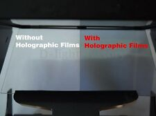 210mm x 297mm SAMPLE A-4 size TRANSPARENT HOLOGRAPHIC REAR PROJECTION FILM NEW