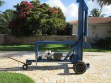 Wheel Rim Crusher Machine Custom Built On Trailer Vertical Hydraulic Ram Scrap