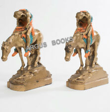 C. 1915 Bookends END OF THE TRAIL James Earle Fraser PPIE Pompeian Bronze Clad